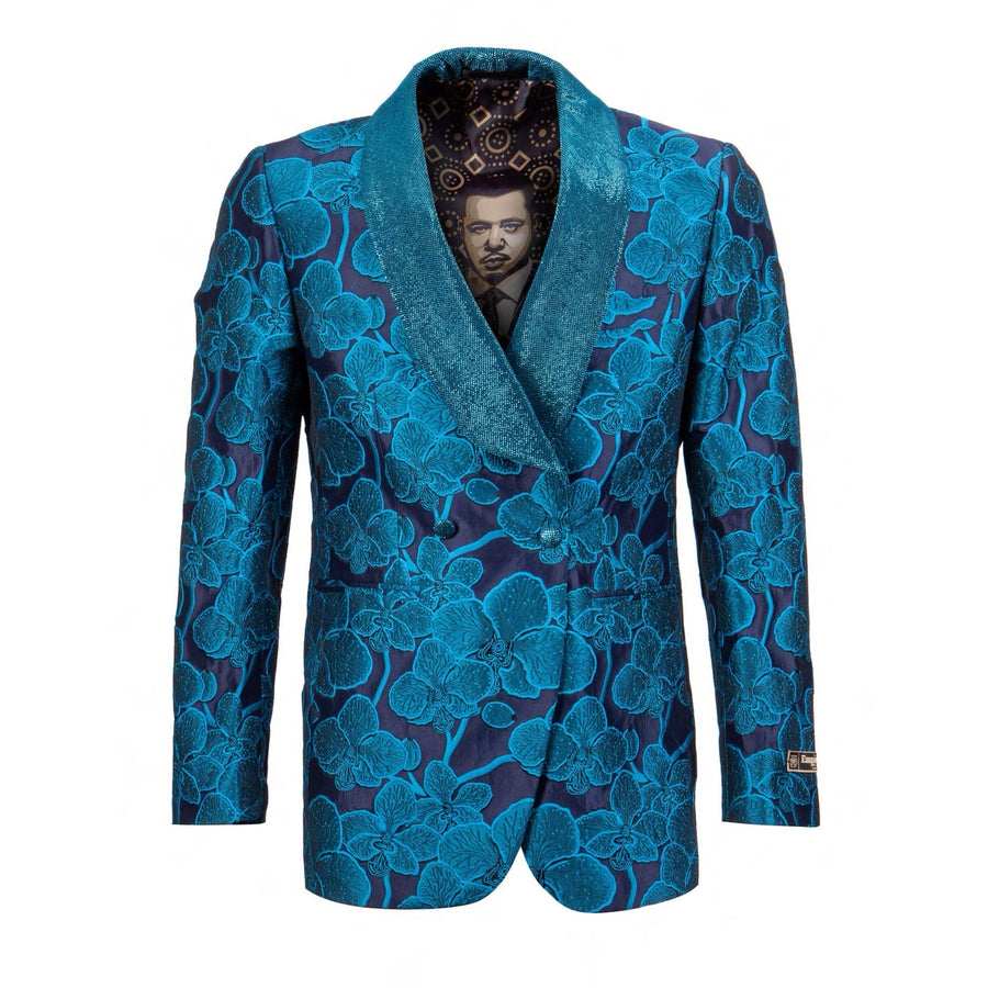EMPIRE Show Formal Dinner Slim Fit Turquoise Blazer