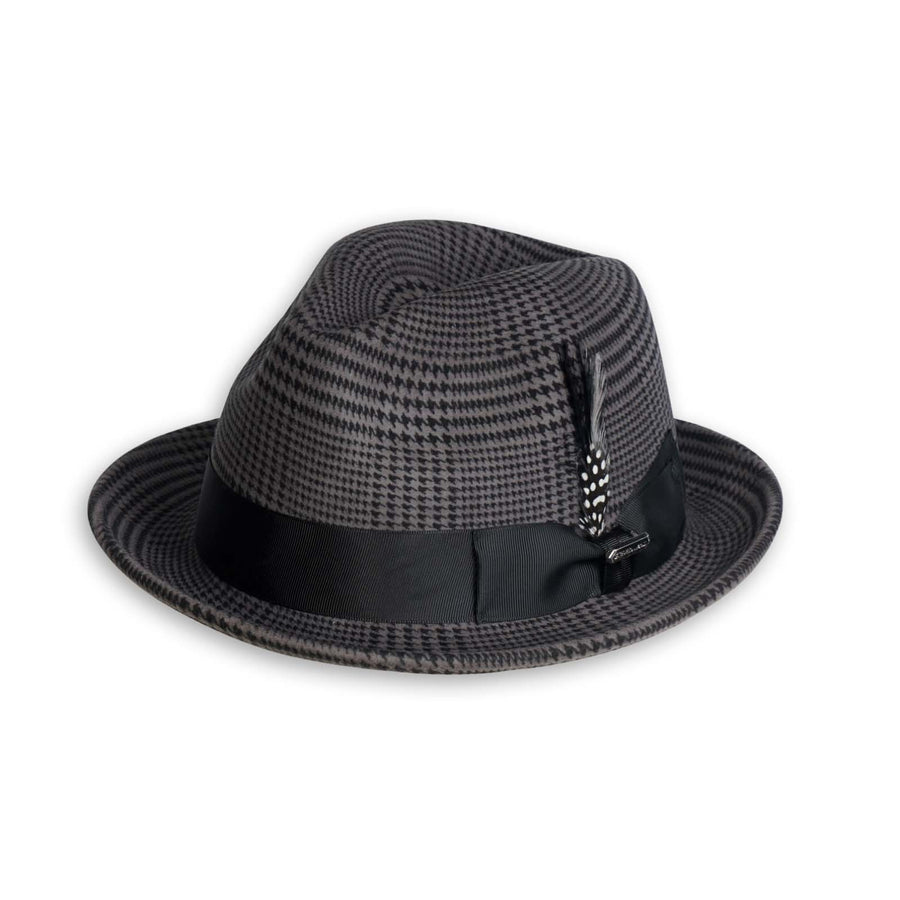 Steven Land Wool Fedora Hat Gray Black