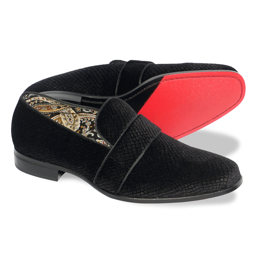 After Midnight Mens Suede Velvet Smoker's Tuxedo Loafer