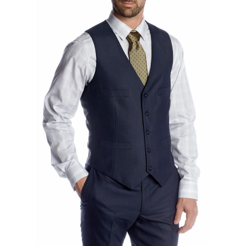Kenneth Cole Reaction Slim Fit Suit Separate Blue Vest