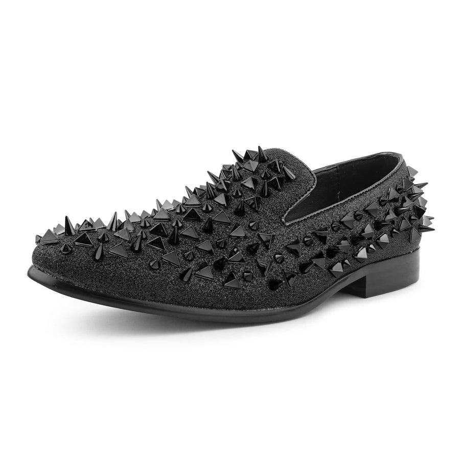 Bolano Men's Spiked Mesa Slip-on Smoking Driving Loafer