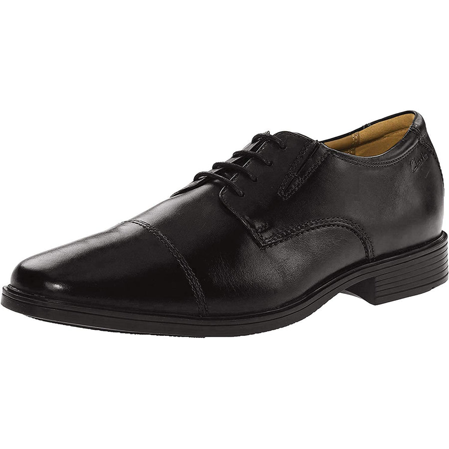 Clarks Men's Tilden Cap Oxford Black Shoes