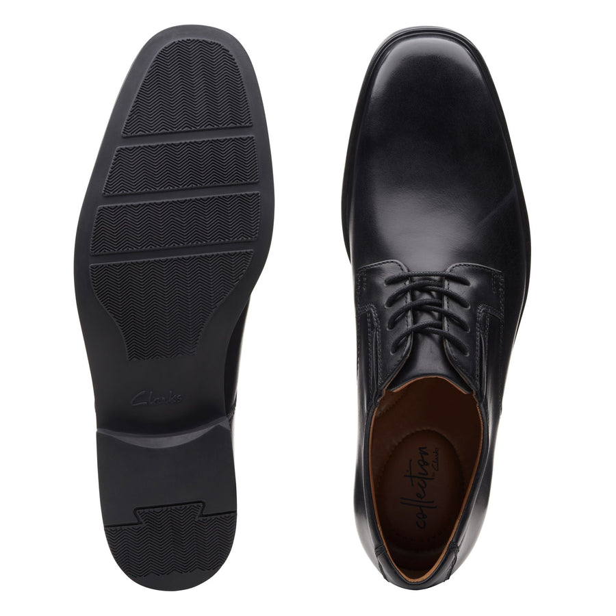 Clarks Men's Tilden Plain Black Oxford Shoes