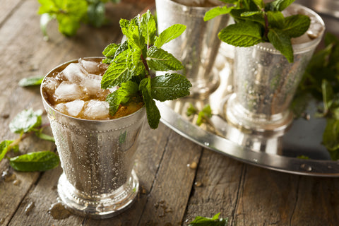 How to Make the Perfect Mint Julep with whiskey and whiskey stones