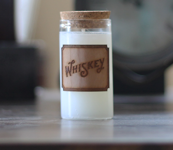 Whiskey scented candle