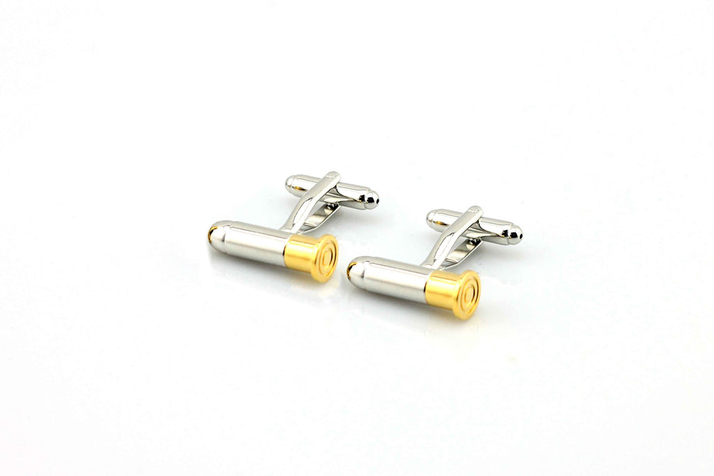 sipdark stainless steel bullet cuff links