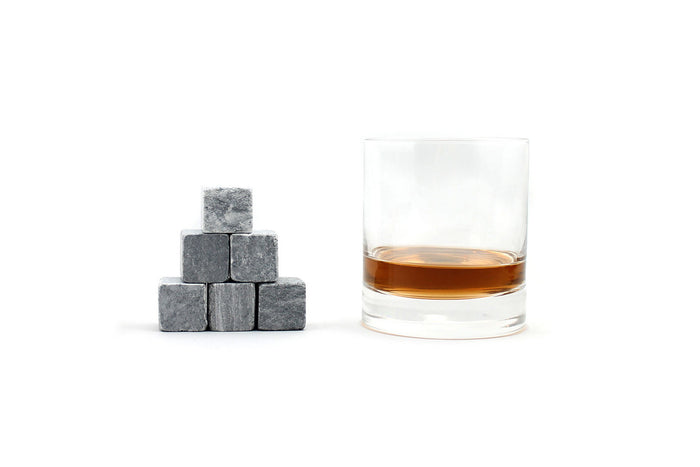 Whiskey rocks with glass set