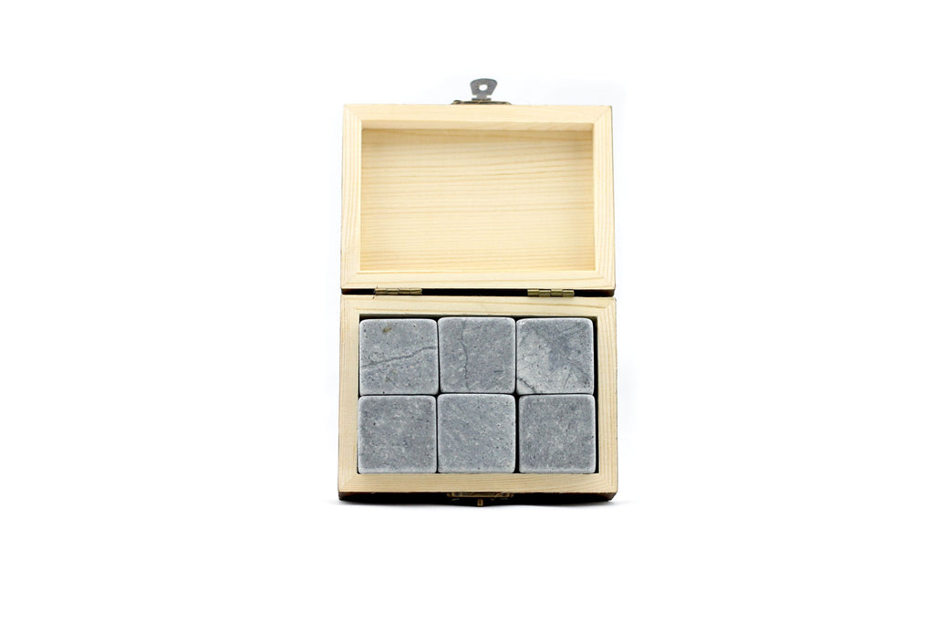 sipdark whiskey stones in gift box