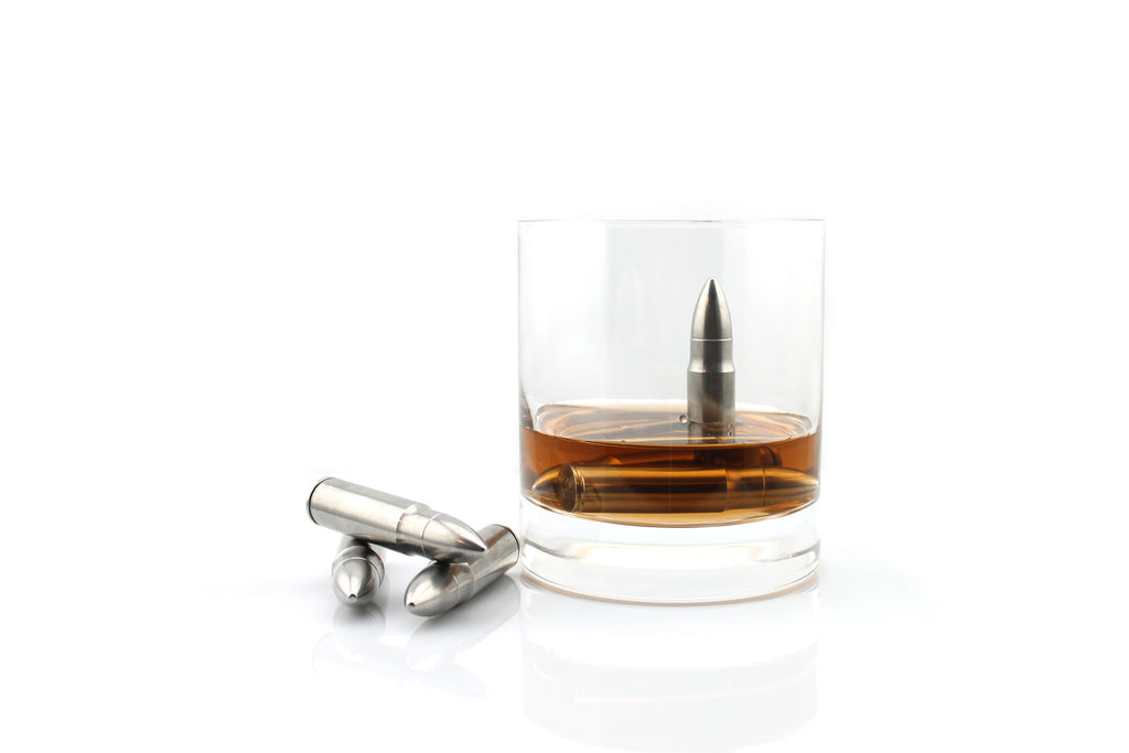 The Original Whiskey Bullet® These stainless steel bullets can be used to cool your whiskey, scotch, vodka, white wine, etc. Unlike ice, Whiskey Bullet ™ chill your whiskey without diluting the flavors