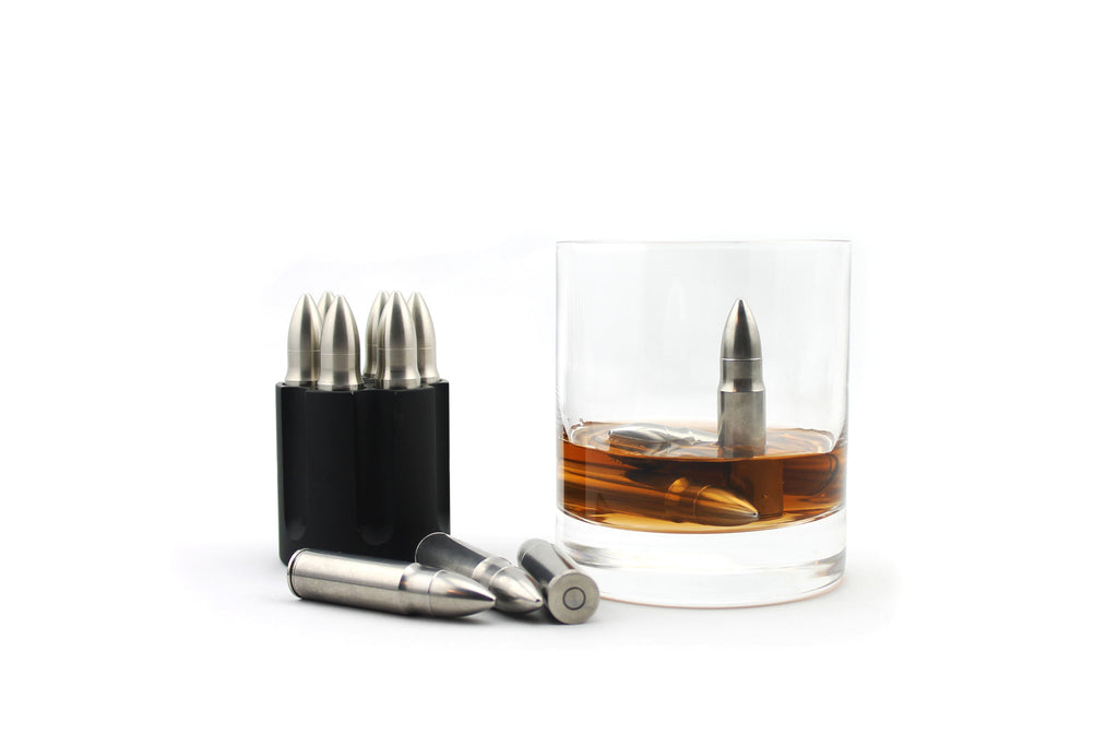 The Original Whiskey Bullet ® These stainless steel bullets can be used to cool your whiskey, scotch, vodka, white wine, etc. Unlike ice, Whiskey Bullet ™ chill your whiskey without diluting the flavors
