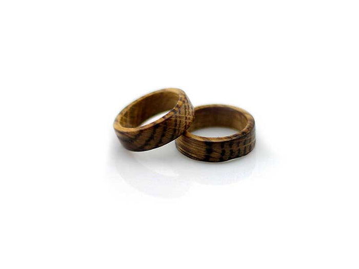 Whiskey Barrel Wedding Rings