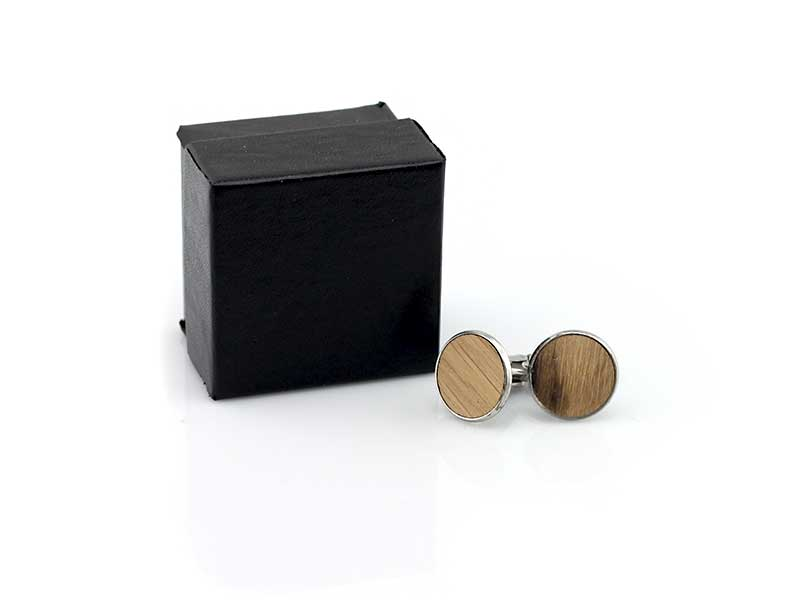 whiskey barrel cufflink box set