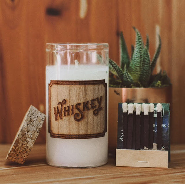 whiskey scented candle by sipdark
