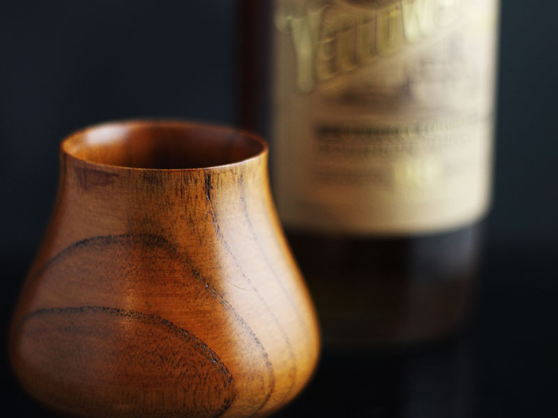 sipdark wood whisky cup