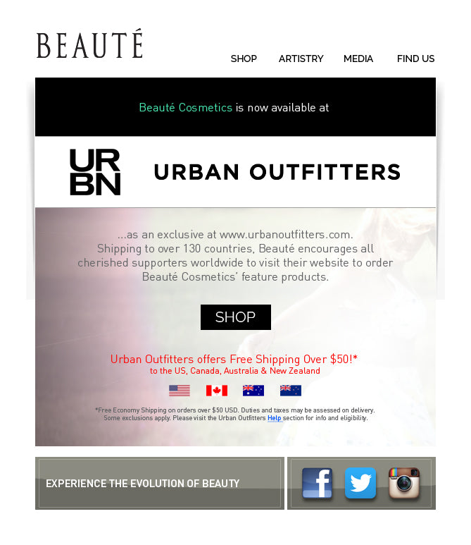Now At Urban Outfitters Online Free Shipping Available Beaute