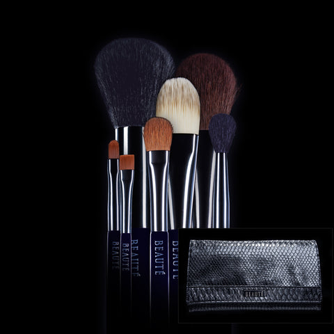 The Essential Brush Set + Luxury Brush Clutch
