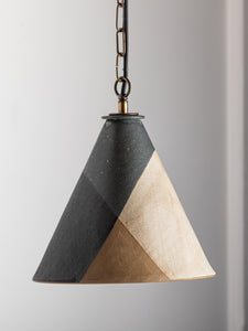 Bantam Pendant - Matte-black and Parchment