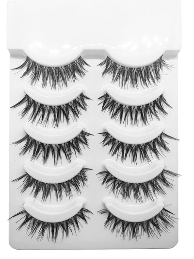 5 Pack Wispy Lashes - Killa Beauty Lashes