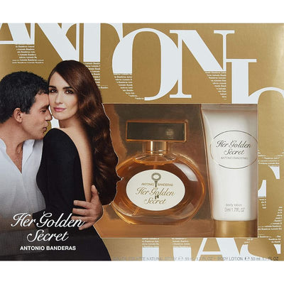 Antonio Banderas Her Golden Secret Gift Set 50ml EDT + 50ml Body Lotion for Women