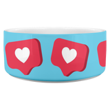 Like Hearts Blue - Dog bowl