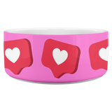 Like Hearts Pink - Dog Bowl