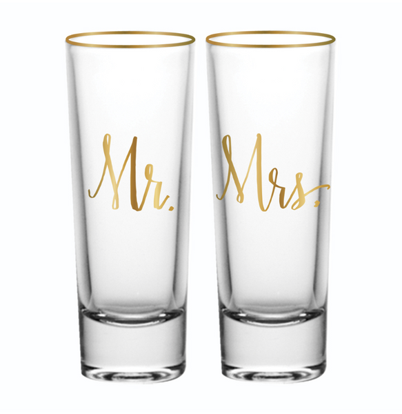 Mr & Mrs. Shot Glass Set of 2