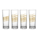 Bride's Drinking Team - Set of 4
