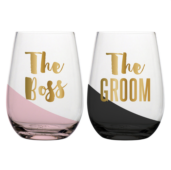 The Boss / The Groom Wine Set