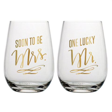 Soon To Be Mrs / One Lucky Mr. Wine Set