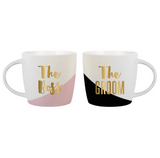 The Boss/The Groom Mug Set