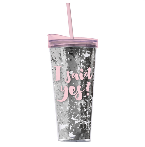 I Said Yes! Confetti Tumbler