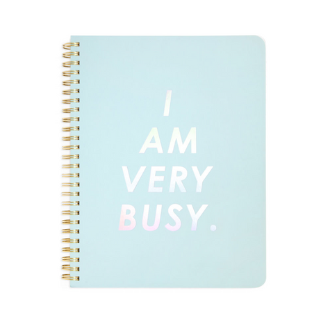 Notebook I AM VERY BUSY - Azul