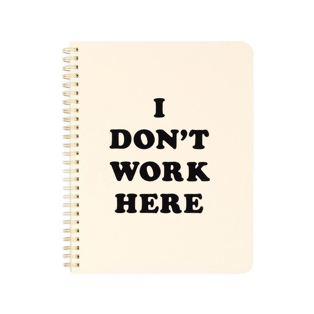I don't work here notebook
