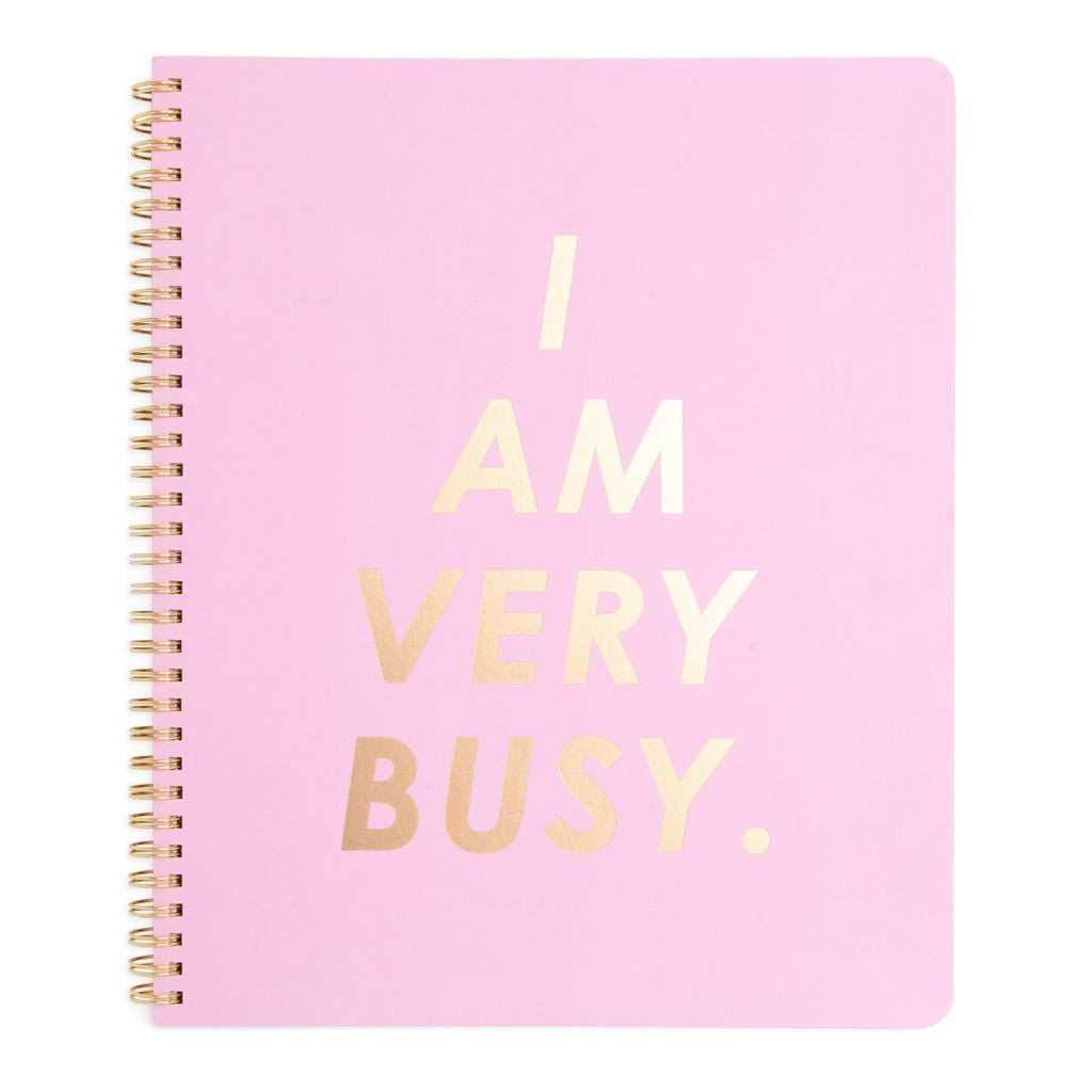 I Am Very Busy large notebook