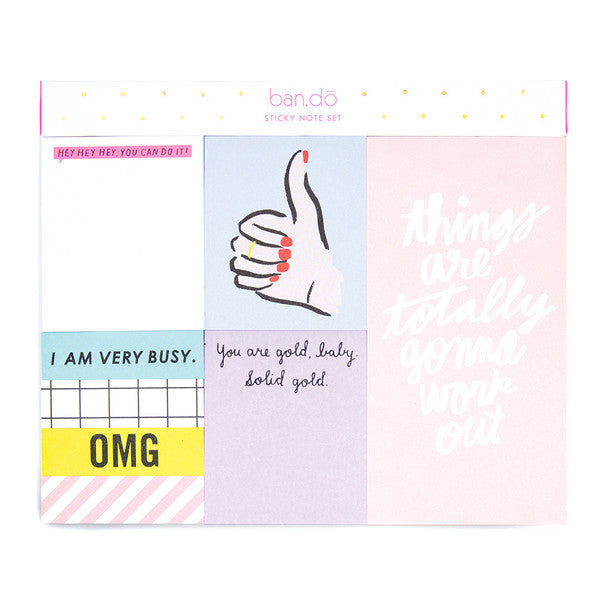 Thumb's Up Sticky Note Set
