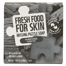Load image into Gallery viewer, Freshfood For Skin Missing Puzzle Soap (Purifying Charcoal)