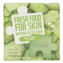 Load image into Gallery viewer, Freshfood For Skin Missing Puzzle Soap (Soothing Cucumber)