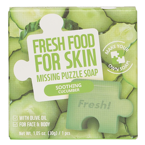 Freshfood For Skin Missing Puzzle Soap (Soothing Cucumber)