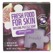Load image into Gallery viewer, Puzzle Soap Oily Skin Set (Pore-Care Carrot Puzzle Soap, Purifying Charcoal Puzzle Soap, Refreshing Orange Puzzle Soap, Brightening Fig Puzzle Soap)