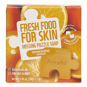 Puzzle Soap Oily Skin Set (Pore-Care Carrot Puzzle Soap, Purifying Charcoal Puzzle Soap, Refreshing Orange Puzzle Soap, Brightening Fig Puzzle Soap)