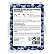 Load image into Gallery viewer, Superfood Salad Facial Sheet Mask (Strengthening Blueberry) Water Type Essence