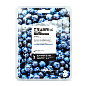 Superfood Salad Facial Sheet Mask (Strengthening Blueberry) Water Type Essence