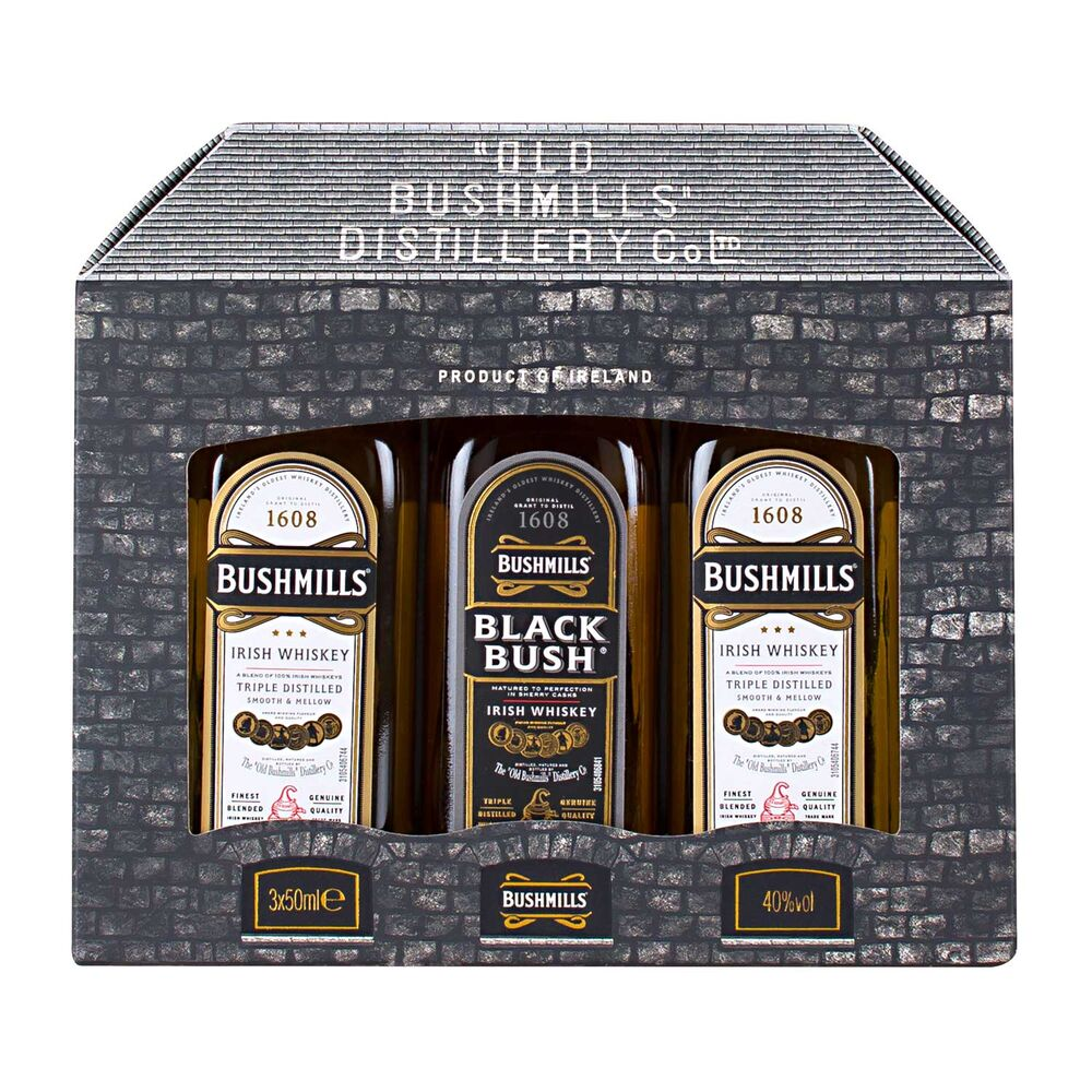 Bushmills Miniatures Pack 3 x 5cl