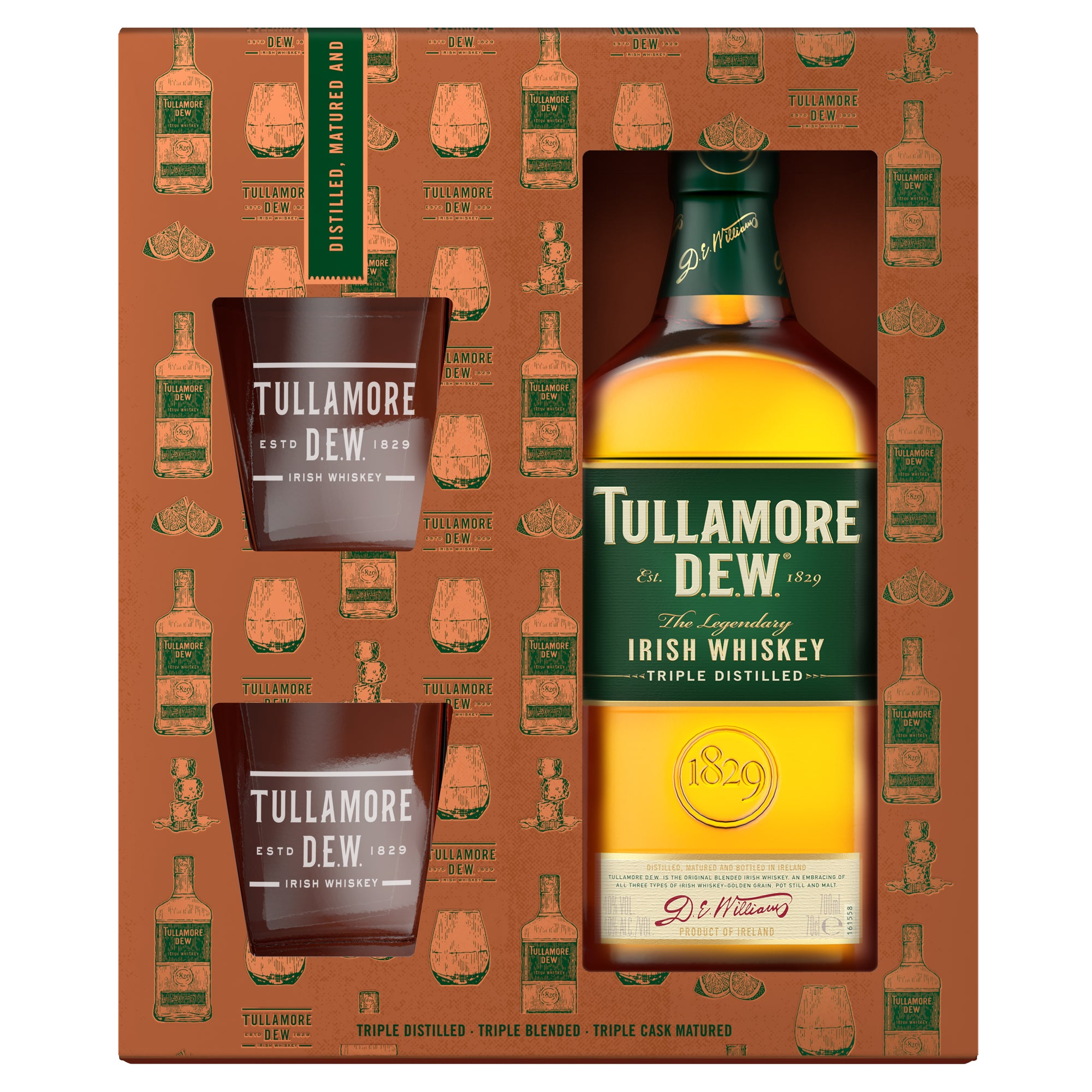 Tullamore Dew Whiskey - Glass Pack 70cl