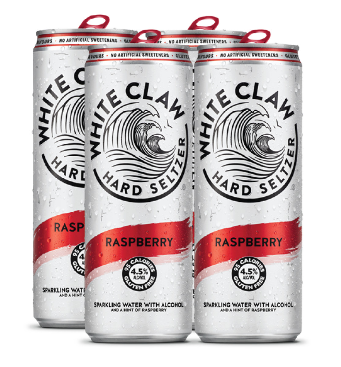 White Claw Raspberry 4 Pack 33cl Can
