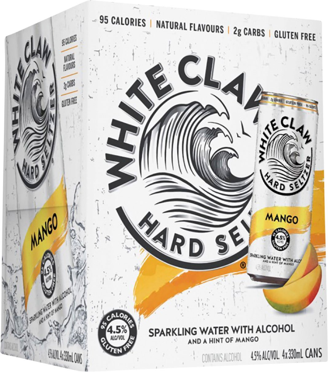 White Claw Mango 4 Pack 33cl Can