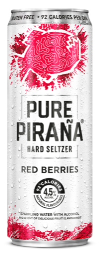 Pure Pirana Red Berries Seltzer 33cl Can