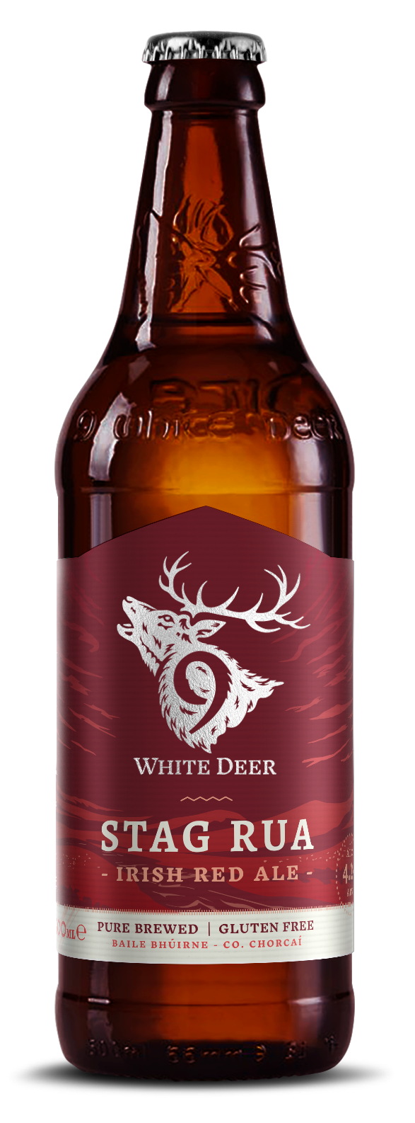 9 White Deer Rua Red Ale 50cl Bottle