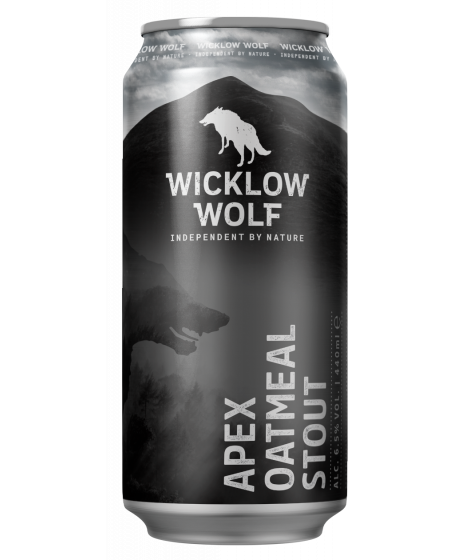 Wicklow Wolf Apex Oatmeal Stout 44cl Can 6.5%