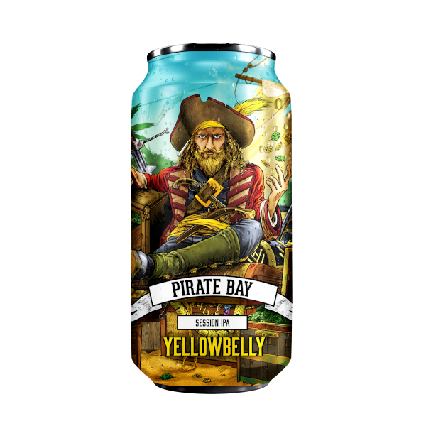 Yellowbelly - Pirate Bay Session IPA 440ml Can 4.5% ABV